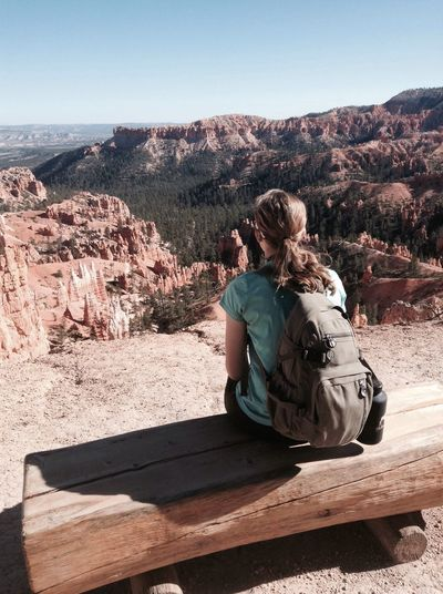 Sitting Nature Landscape Outdoors Clear Sky Young Adult Beauty In Nature EyeEm Nature Photography Bryce Canyon
