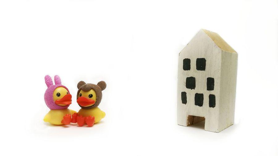 Toy White Background No People Indoors  Doll Studio Shot Close-up Stuffed Toy Easter Childhood Day Food Bird Duck