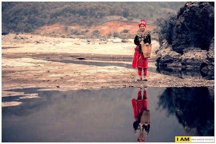 Athleisure Enjoying Life Red Dress Myanmar Myanmar View Kachin Reflection Traditional Taking Photos Check This Out Cheese! Local Fashion Under The Raincloud