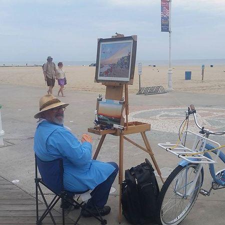 Still painting this morning's Sunrise Oceancitycool OceanCity Maryland Ocmd