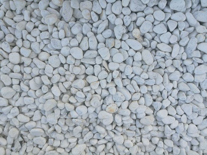 Full frame shot of white pebbles