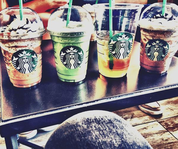 Drinking Starbucks ❤