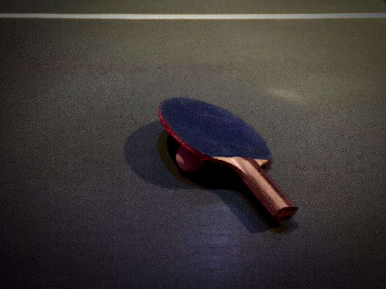 indoors, no people, sport, musical instrument, close-up, racket sport, day