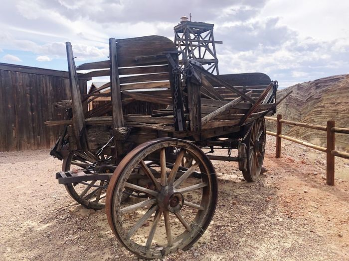 Transportation Destroyed Carriage Wagon Wheel Wagon  Cloud - Sky Sky Day Outdoors No People