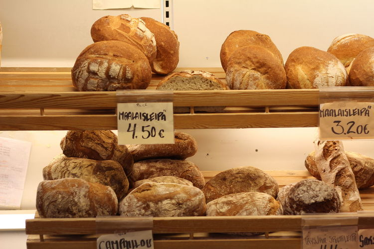 Bread for sale in store