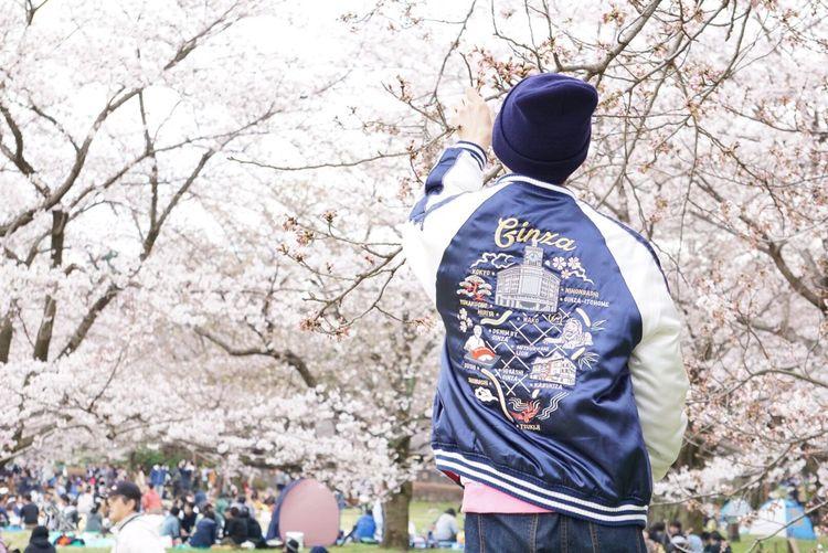 Japan Tokyo Sakura Ootd Fashion Theparkingginza Fragment スカジャン 桜 花見