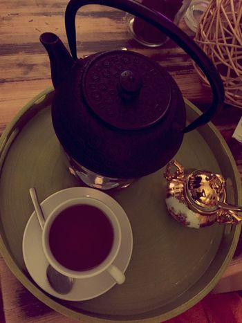 Drinking Tea Kusmitea Enjoying Life