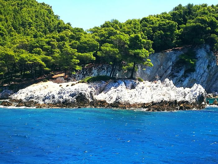 Skopelos Greek Island Aegean SeaClear Sky Beauty In Nature Amarantos Greece Mama Mia Sommergefühle Let's Go. Together. The Week On EyeEm Done That. Connected By Travel Lost In The Landscape Perspectives On Nature An Eye For Travel Colour Your Horizn