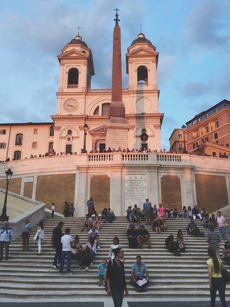 Rome Italy Architecture Built Structure Large Group Of People Tourism Steps Tourist Building Exterior Travel Destinations Famous Place Staircase Steps And Staircases Person Façade Leisure Activity Vacations In Front Of Museum Stairs Sky History