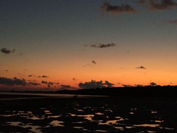 menuju senja Sky Sunset Beauty In Nature Scenics - Nature Water Orange Color Tranquility