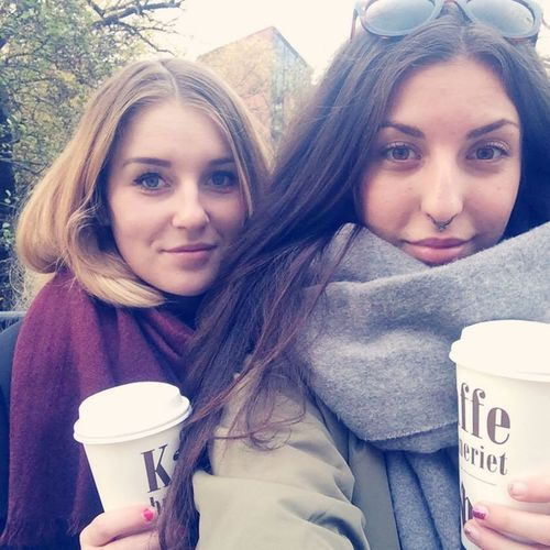 Such a beautiful Sunday morning in Oslo with my favourite girl ☕️