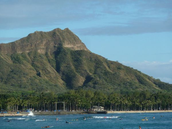 Diamondhead Mountain Beauty In Nature Nature Scenics Tranquility Day Outdoors No People Scenery Landscape Oahu, Hawaii Sightseeing Travel Holiday Volcaniccrater