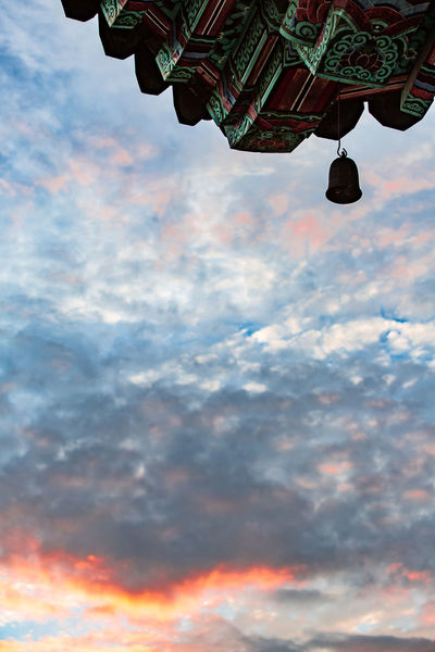 Buddhist Temple Cloud - Sky Day Korea Low Angle View Low Section Nature One Person Outdoors People Sky Sunset Wind-bell