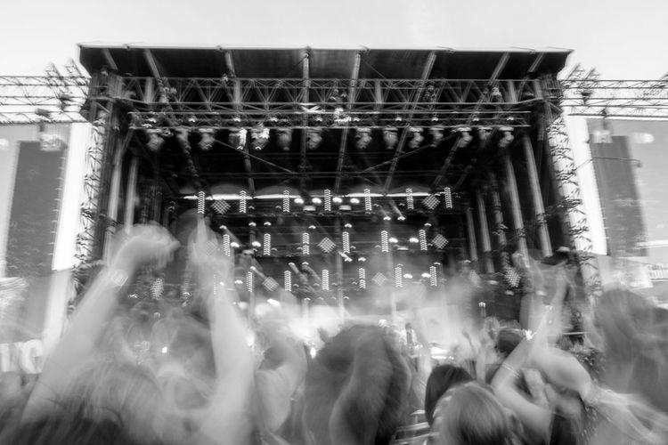 Arts Culture And Entertainment Blackandwhite Blurred Motion Celebration Concert FUJIFILM X-T1 Lifestyles Longchamp Music Solidays