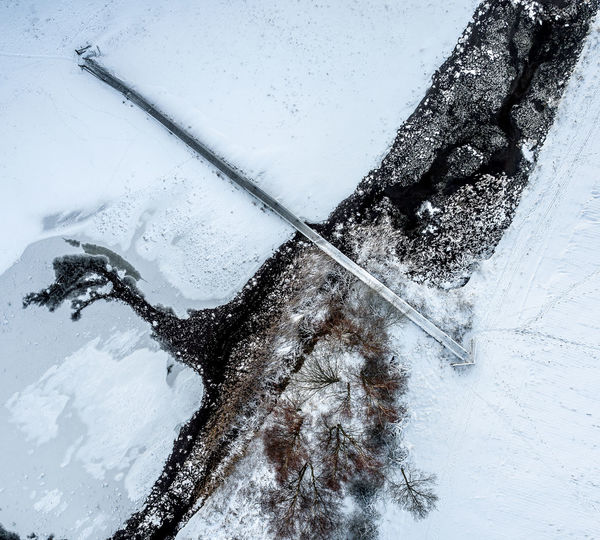 Snow, ice and and a bridge Aerial View Aerial Shot Drone  Aerial Photography Top Down View Huddinge Ice Stockholm Sweden Beauty In Nature Bridge Close-up Cold Temperature Day Frozen Nature No People Outdoors Sky Snow Snowing Sweden Nature Water Weather Winter
