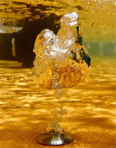 Close-up of water splashing in water