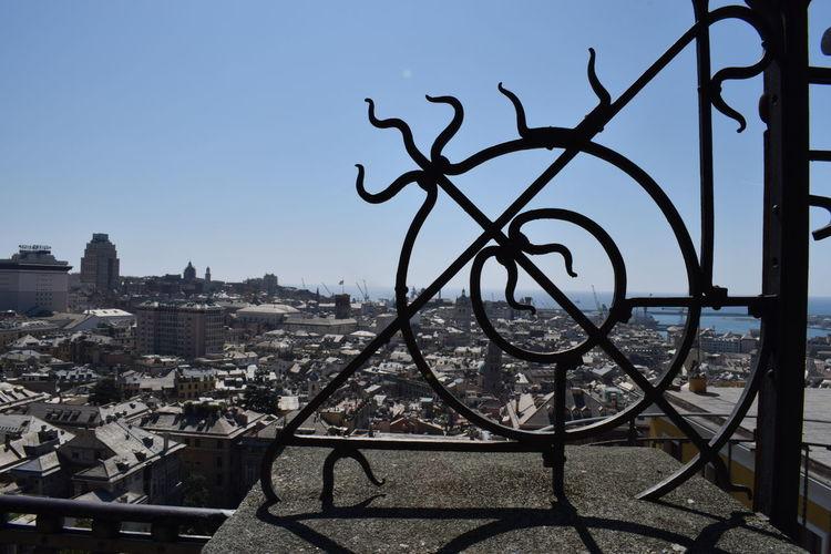 Spianata di Castelletto Genova Architecture Belvedere Montaldo City Cityscape Clear Sky Day Metal No People Outdoors Panoramic View Sky Spianata Di Castelletto Travel Destinations