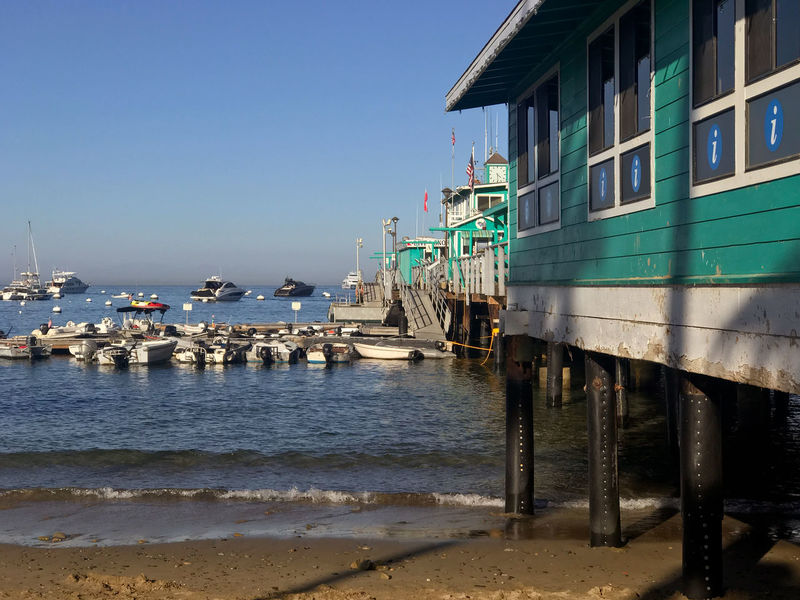 Peaceful View Perspective Pier Architecture Avalon Beach Beauty In Nature Beauty In Nature Boats Building Exterior Built Structure Catalina Catalina Island  Clear Sky Day Green Pier Nature Nautical Vessel No People Outdoors Peaceful Scenics Sea Water Wharf