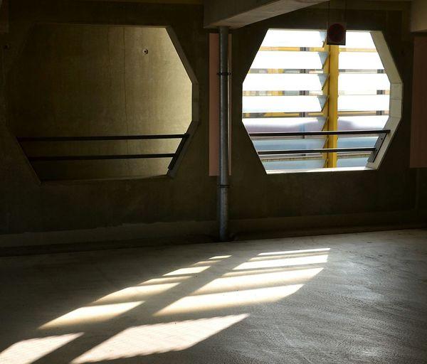 The City Light Parkhaus Parkhouse  Garage Architecture Window View Light And Shadow Sunlight Indoors  Shadow-art Fassade Best EyeEm Shot Façade Facade Detail