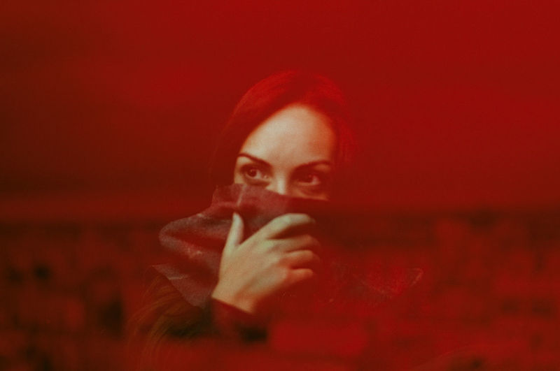 35mm film   reflection in red wine with city view 35mm Film Film Photography Analog Portrait Beauty Red Women Human Face Headshot Close-up A New Perspective On Life International Women's Day 2019