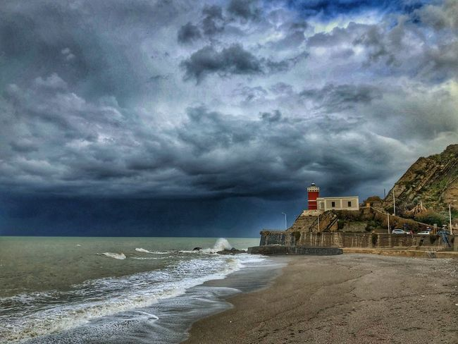 Capo D'Orlando Sicily Nikon Cloud - Sky Sea Sky Storm Cloud Nature Water Beauty In Nature Weather Beach Built Structure Horizon Over Water Power In Nature Day Architecture Outdoors Wave Scenics Storm No People Lighthouse