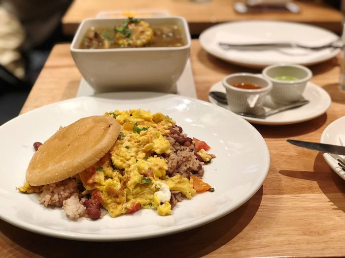Empanada mamas! Breakfast Colombian  Plate Food And Drink Food Ready-to-eat Table Freshness Serving Size Indoors  Focus On Foreground Healthy Eating Breakfast No People Close-up Meat Day