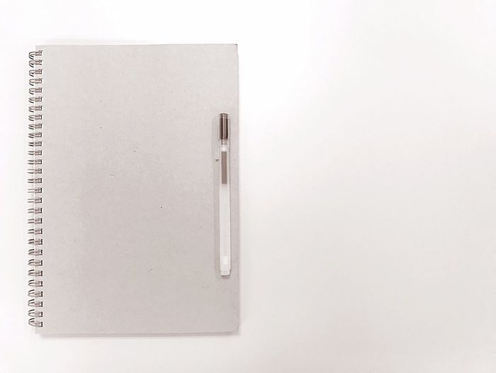 Copy Space Paper Note Pad Diary Spiral Notebook Page Blank Office Supply Office No People Education Business Ring Binder Reminder White Background Workbook Sketch Pad Day