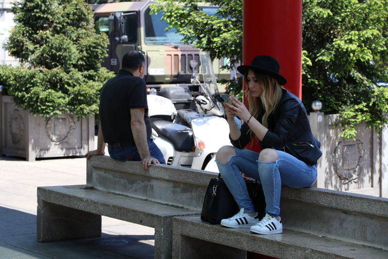 Girl Hat Outdoors Milano Cadorna Station Beautiful Girl Sunnyday☀️ Portrait Scattirubati City Women People And Places