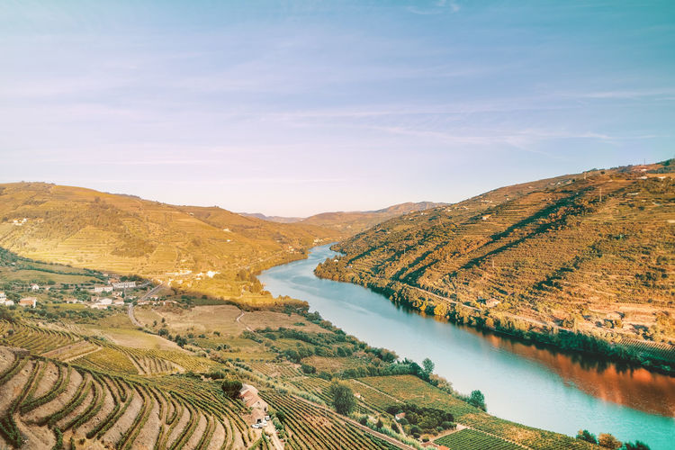 River douro valley in portugal