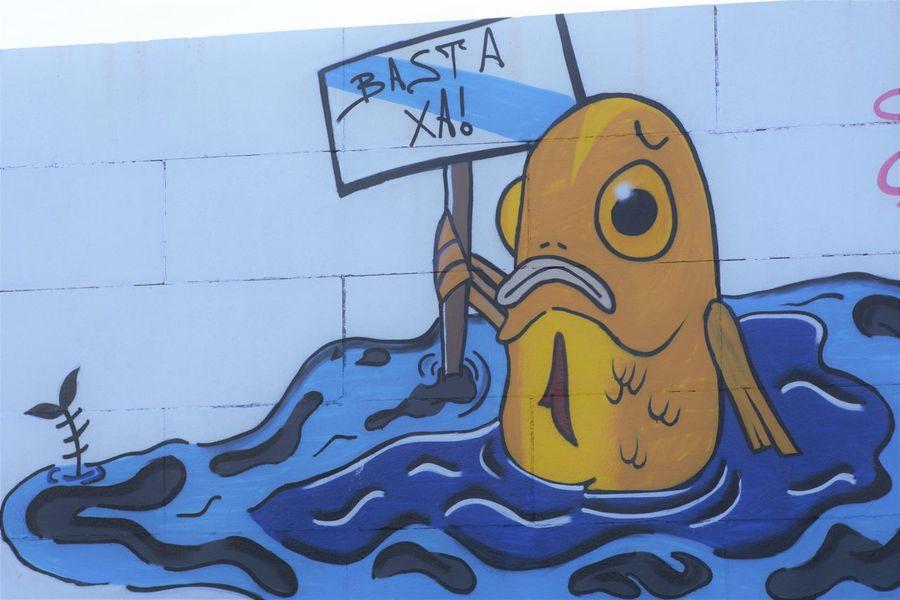 Oil Tanker Muxía Animal Representation Creativity Environmental Damage Fish Ocean Oil Petroleum Stop