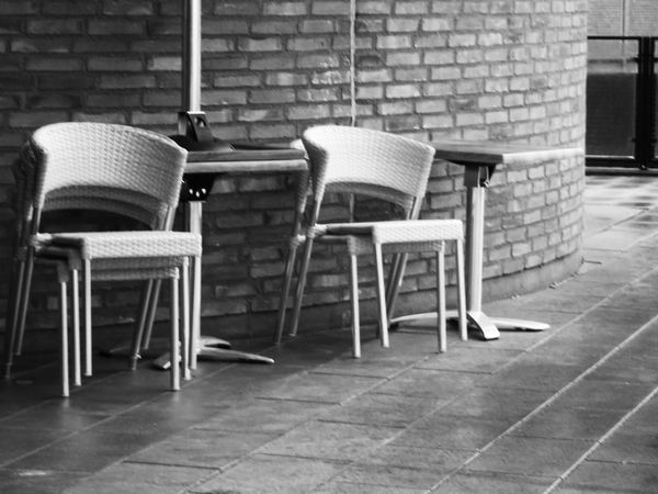 Blackandwhite Outdoors Chairs Stacked Chairs Autumn The Week On EyeEm Black And White Friday