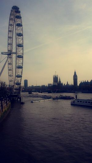 Bigben The Thames Boats⛵️ London Eye🎡 Pic2 😍London Love Life Made By Me 🙊 London Lifestyle Fundays Tall - High From Where I Stand Pedestrian Walkway Travel Destinations London Lifestyle