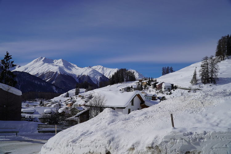 Snow Cold Temperature Winter Beauty In Nature Snowcapped Mountain Ftan  Scuol Motta Naluns Graubünden Engadin Engadine Switzerland Engiadinabassa