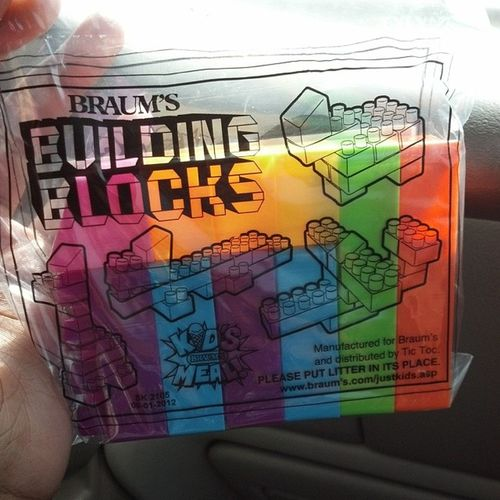 Yay i got Building blocks from Braums . They're so Colorful
