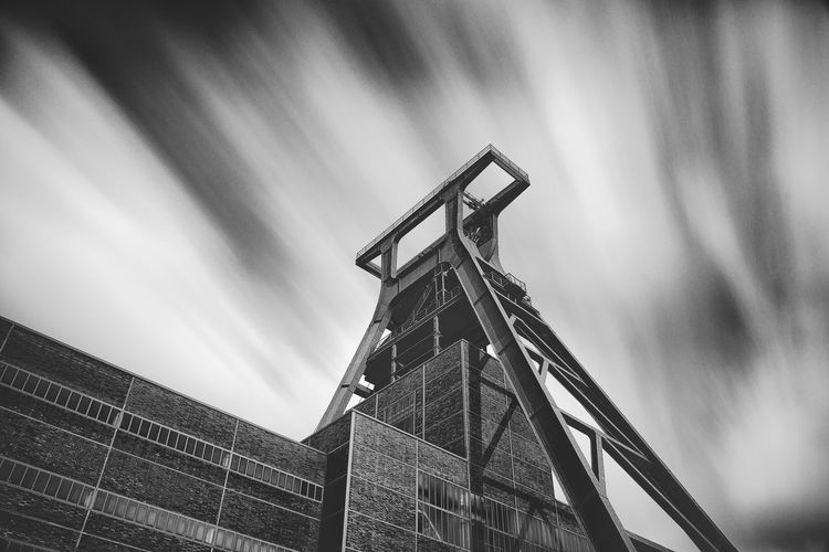Low Angle View Of Coal Mine At Zollverein Industrial Complex