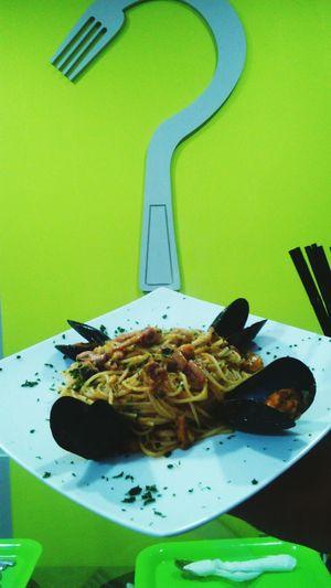 spaghetti ai frutti di mare Eating