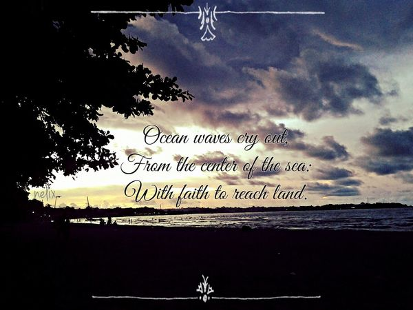 Dagat. Eyeem Philippines Beach Haiku Sillhuette