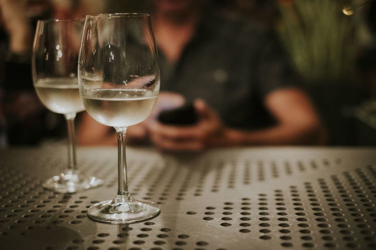 Lifestyle Man Wine Glass Drink Food And Drink Smartphone Summer Table Technology Using Phone Wine Wireless Technology