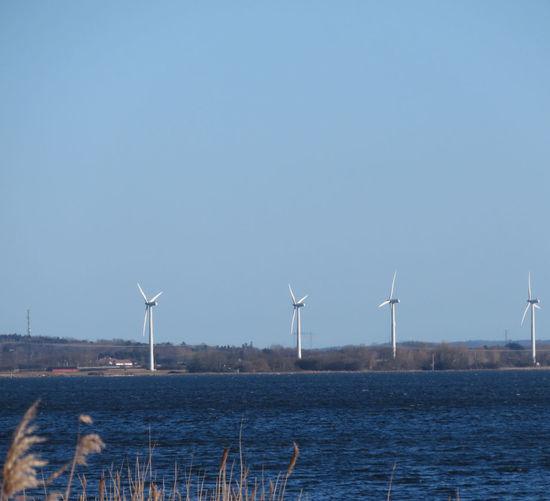 Windmill Wind Turbine Wind Power Traditional Windmill Water Sea Alternative Energy