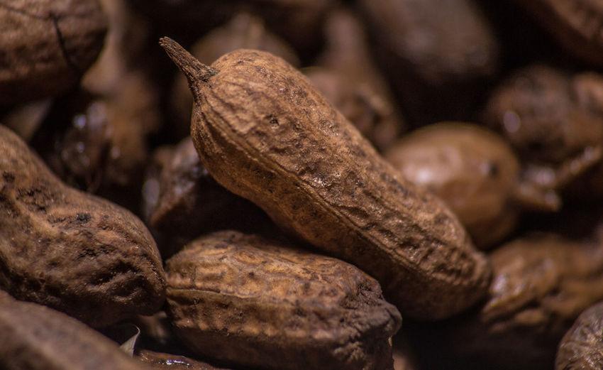 Detail shot of roasted groundnut beans