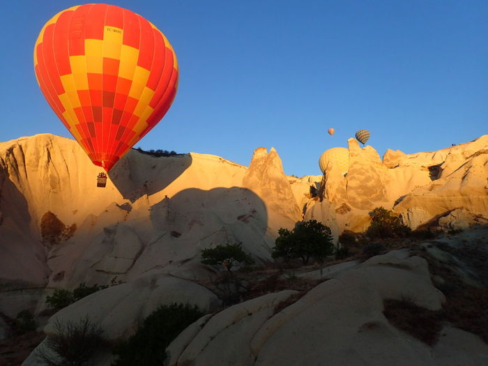 Travel Tourism Nature Mountain Clear Sky Hot Air Balloon Adventure Scenics Tranquility Tranquil Scene Transportation Clear Sky Blue Landscape Tranquil Scene Transportation Travel Tranquility Hot Air Balloon Adventure Flying Tourism Outdoors Mid-air Non-urban Scene First Eyeem Photo