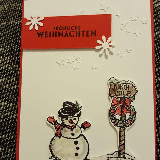 another christmascard... DIY At Home Christmastime Basteln Basteln Mit Papier Weihnachtskarte Bastelnmachtgluecklich