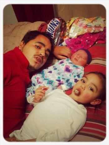 Daddy , Marylinn && Mercedes <3