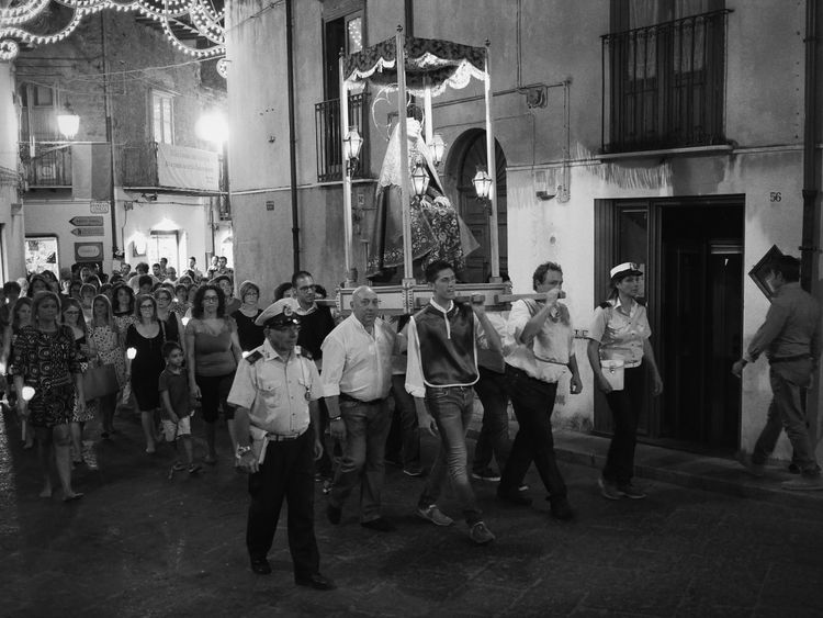 Streetphotography Italia Italy Black And White Everybodystreet Sicily Sicilia Procession Castelbuono Santa Anna Monochrome Photography The Street Photographer - 2017 EyeEm Awards The Photojournalist - 2017 EyeEm Awards