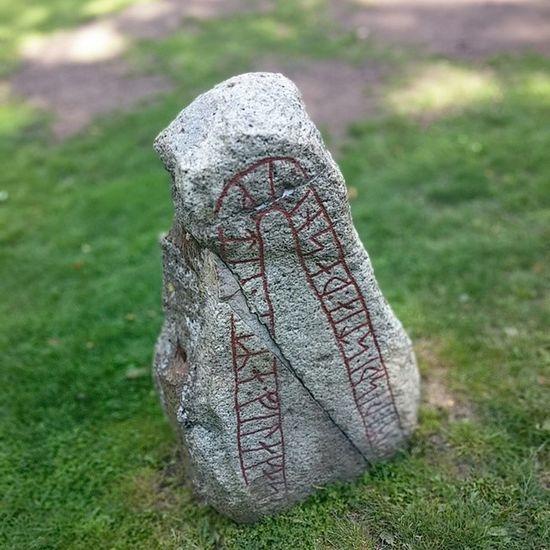 Runesten Runer Sten Stone Signs Lund