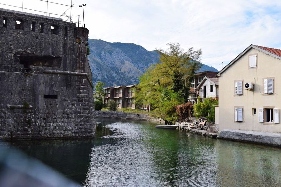 Montenegro Beauty Of Montenegro Kotor Landscape Traveling Travel Travelling Travel Photography Old City Old Old Buildings Wall Riverside River Green EyeEm Nature Lover Landscape_Collection Outdoors Hanging Out