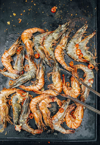 grilling prawns on the BBQ BBQ Food And Drink Grilling Orange Close-up Cooked Crustacean Day Food Food And Drink Freshness Healthy Healthy Eating Healthy Food Healthy Lifestyle No People Outdoors Prawn Prawns Seafood Summer