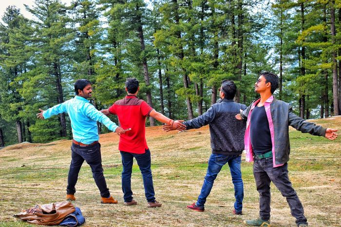 An Eye For Travel Tree Togetherness Fun Friendship Day Mature Adult Full Length Enjoyment Leisure Activity Real People Nature Happiness Smiling Outdoors