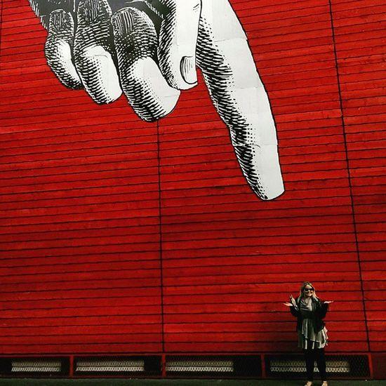 Honey, I shrunk the Webz IamEveryman Nationaltheatre Southbank Thames London Red LDN SE1 pointing
