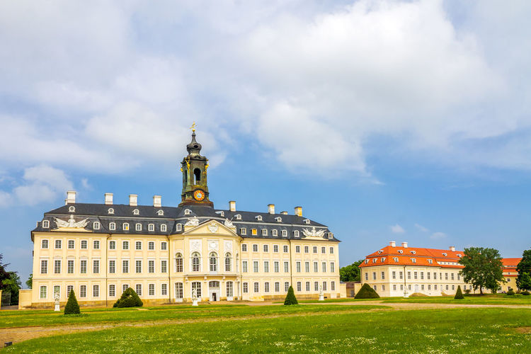 Wermdorf Castle Wermdorf Architecture Blue Building Exterior Built Structure Day Historical Hubertusburg No People Nobody Outdoors Sky Travel Destinations